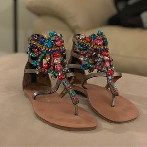 Jeffrey Campbell sparkly colorful sandals